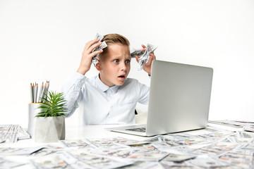 Upset child is feeling frustration