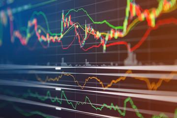 financial business graph chart analysis forex stock market graph background