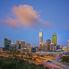 Perth Skyline at Twilight Western Australia Square