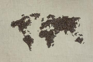 Kaffee, Weltkarte