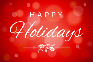 Red Soft Focus Happy Holidays Vector Horizontal Background 1