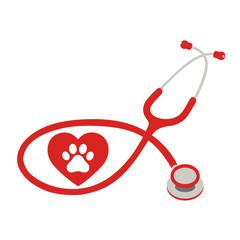 veterinarian logo on white background