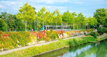 Tramway à Strasbourg en Alsace, France