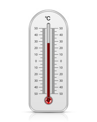 Meteorology thermometer isolated. Vector illustration