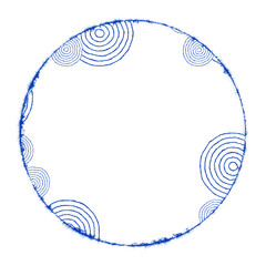 an abstract circle on white with space for your content