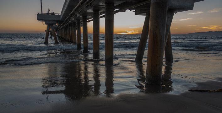 Sunset in Venice Beach, CA