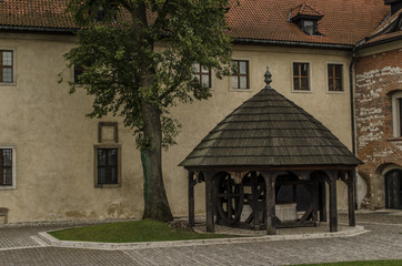 kościół, klasztor, dziedziniec