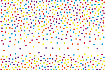 Background with irregular, chaotic dots, points, circle. Festival  pattern Colorful. Vector illustration Memphis style