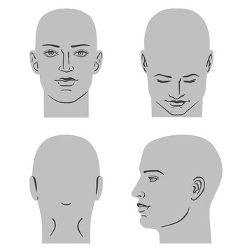 Man hairstyle head set