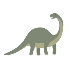 Apatosaurus dinosaur icon. Cartoon illustration of apatosaurus dinosaur vector icon for web
