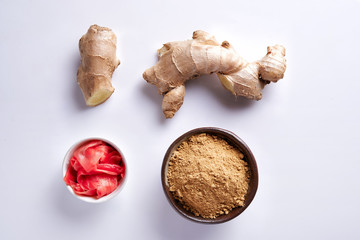 ginger powder and root