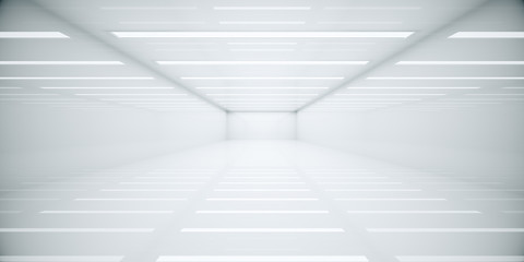 Bright white box room