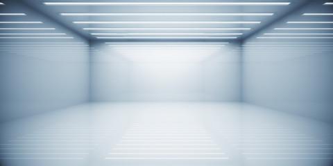 Contemporary white box room