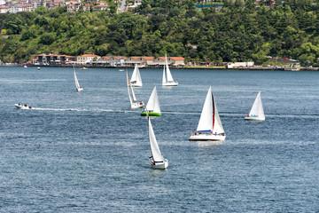 Yacht race in bosporus, Istanbul