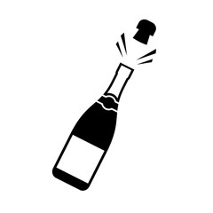 Champagne cork popping icon