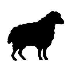 Wool sheep vector silhouette