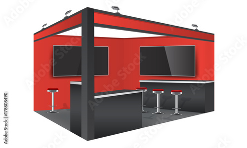 Exhibition Stand Design Mockup Free : Various tradeshow exhibition booth mockups on vectogravic
