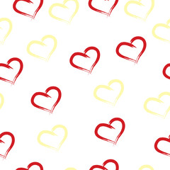 seamless tileable pattern with hearts on white background - Valentines day card