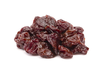 Dried Cherries on a White Backgroun