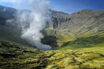 Crater active volcano Bromo