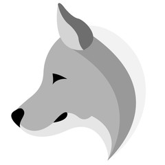 logo design of the husky logo