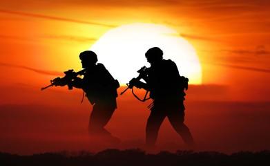 soldier sunset