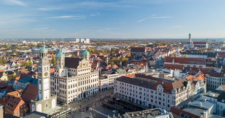 Blick auf die Altstadt Augsburgs