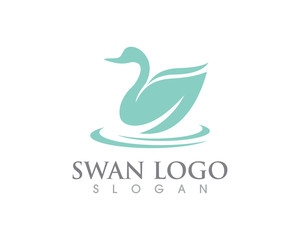 Swan logo Template vector