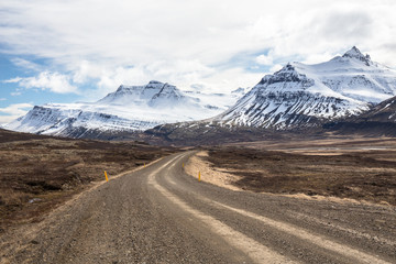 Mountain Roadway in Iceland