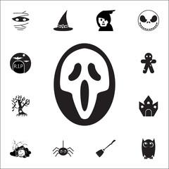 Ghost Scream Mask Halloween icon. Set of Halloween icons