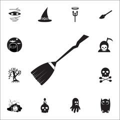 halloween broomstick icon. Set of Halloween icons