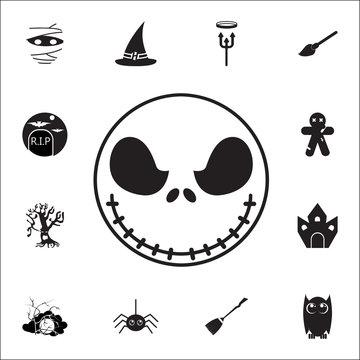 scarecrow icon. Set of Halloween icons
