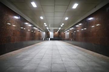 underground passage with lights