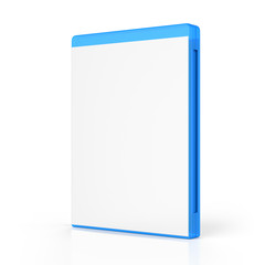 Blank Bluray Case Isolated