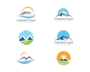 Mountain icon  Logo Template