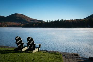 Adirondacks Chairs on the Lake