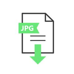 JPG vector icon. Download file