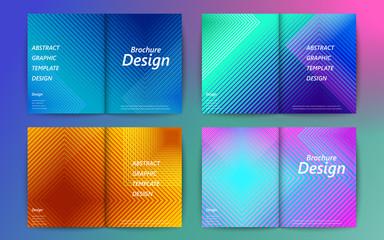 Set of abstract brochure design