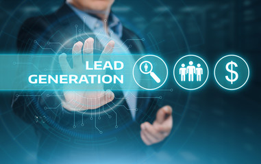 Lead Generation Marketing Advertising Business Internet Technology Concept