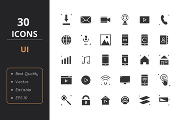30 UI Solid Icons