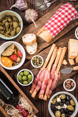 Food made for sharing with friends,spanish tapa