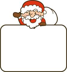 サンタクロースのイラスト クリスマスカード