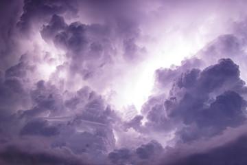 Dark sky and cloud storm