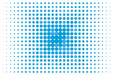 Abstract futuristic halftone pattern. Comic background. Dotted backdrop with circles, dots, point large scale. Blue color