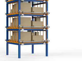 racks full of carton boxes