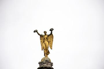 Golden Statue of Victory atop the Fountain French called La victoire de Louis-Simon Boizot au sommet de la colonne