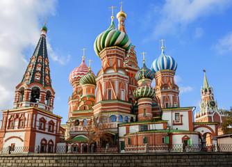 Храм Василия Блаженного на Красной площади в Москве.
