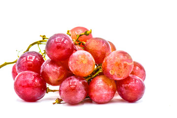 A bunch of fresh grapes isolated white background, fresh fruit concept