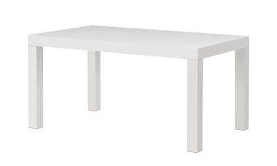 White blank rectangular table mockup isolated. Vector illustration