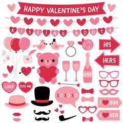 Valentines Day design elements and decoration set